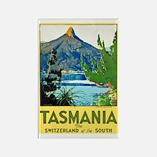 Tasmania Travel Poster 1 Rectangle Magnet