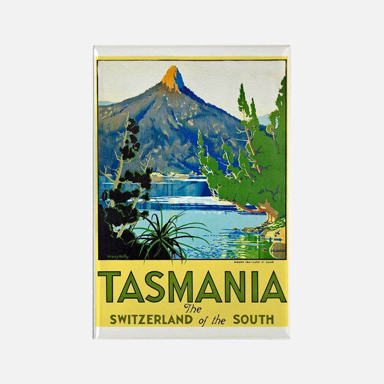 Tasmania Travel Poster 1 Rectangle Magnet