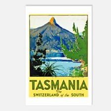 Tasmania Travel Poster 1 Postcards (Package of 8)