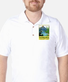 Tasmania Travel Poster 1 Golf Shirt