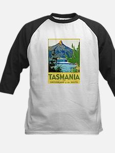 Tasmania Travel Poster 1 Kids Baseball Jersey