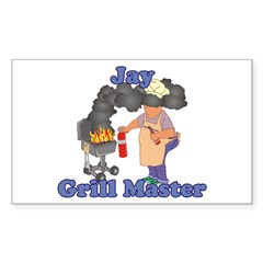 Grill Master Jay Sticker (Rectangle)