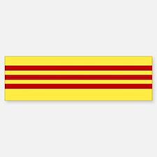 Vietnamese Freedom Flag Bumper Car Car Sticker