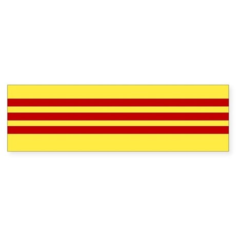 Vietnamese Freedom Flag Bumper Sticker