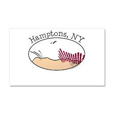 Hamptons NY Car Magnet 20 x 12