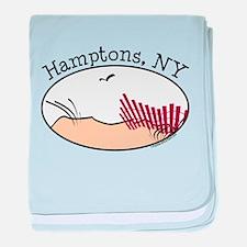 Hamptons NY baby blanket
