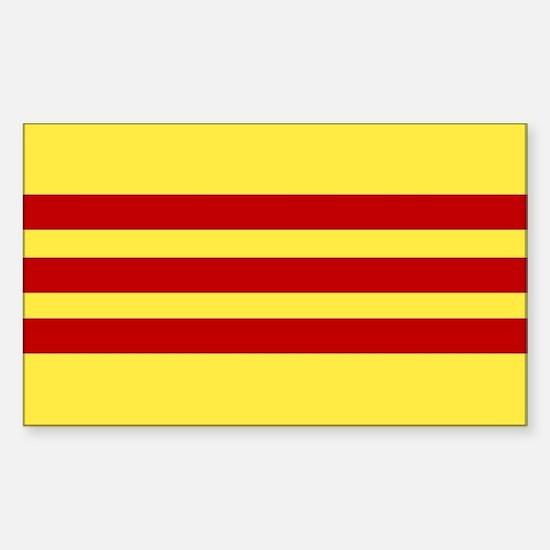 Vietnamese Flag Rectangle Decal