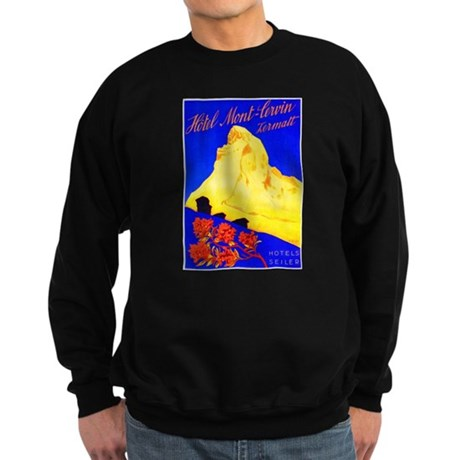 Switzerland Travel Poster 5 Sweatshirt (dark)