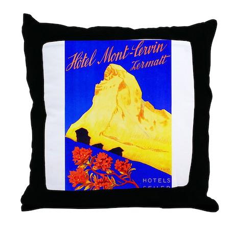 Switzerland Travel Poster 5 Throw Pillow