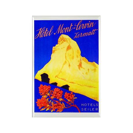 Switzerland Travel Poster 5 Rectangle Magnet