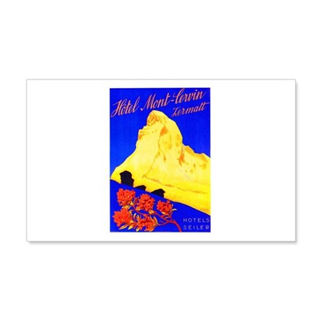 Switzerland Travel Poster 5 20x12 Wall Decal