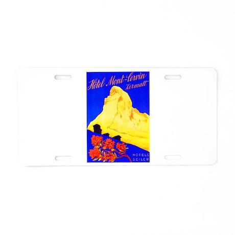 Switzerland Travel Poster 5 Aluminum License Plate