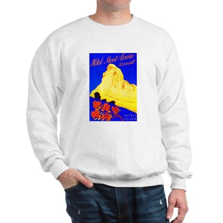 Switzerland Travel Poster 5 Sweatshirt