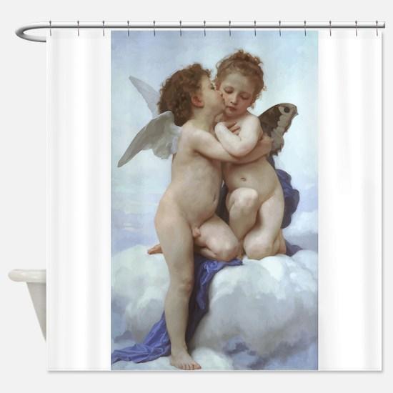 Bouguereau L'Amour et Psyché Shower Curtain