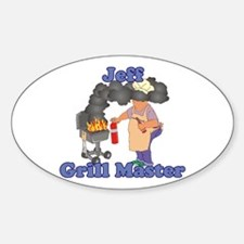 Grill Master Jeff Sticker (Oval)