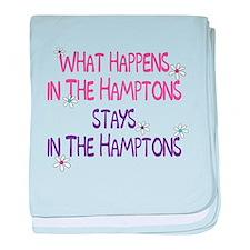 What Happens in the Hamptons baby blanket