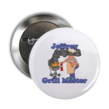 """Grill Master Jeffrey 2.25"""" Button"""