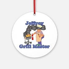 Grill Master Jeffrey Ornament (Round)