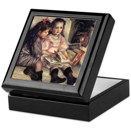 Renoir Portrait Of Two Children Keepsake Box