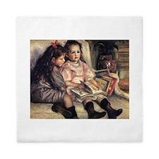 Renoir Portrait Of Two Children Queen Duvet
