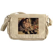 Renoir Portrait Of Two Children Messenger Bag