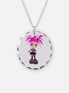 Punk Rock Necklace Charm