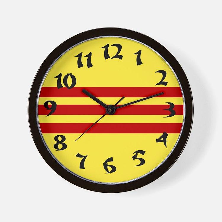 Vietnamese Flag Wall Clock