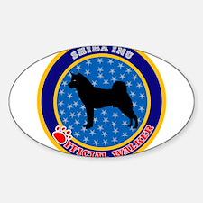 Shiba Inu Oval Decal