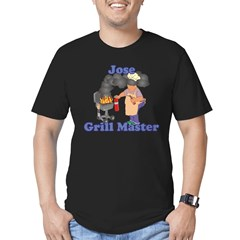 Grill Master Jose Men's Fitted T-Shirt (dark)