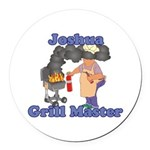 Grill Master Joshua Round Car Magnet