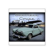 "Business Coupe Square Sticker 3"" x 3"""