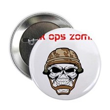 """black ops zombies t-shirt 2.25"""" Button"""