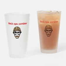 black ops zombies t-shirt Drinking Glass