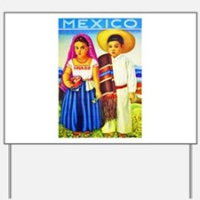 Mexico Travel Poster 12 Yard Sign