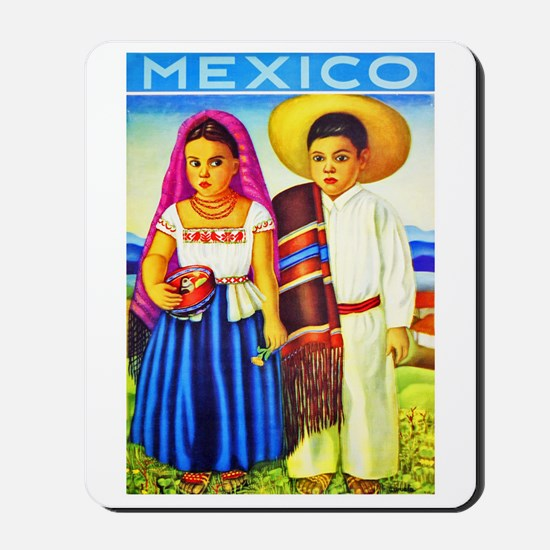 Mexico Travel Poster 12 Mousepad