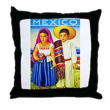 Mexico Travel Poster 12 Throw Pillow