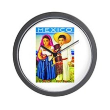 Mexico Travel Poster 12 Wall Clock