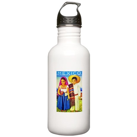 Mexico Travel Poster 12 Stainless Water Bottle 1.0