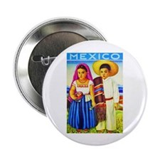 """Mexico Travel Poster 12 2.25"""" Button (10 pack)"""