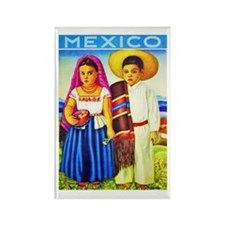 Mexico Travel Poster 12 Rectangle Magnet