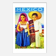 Mexico Travel Poster 12 Postcards (Package of 8)