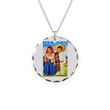 Mexico Travel Poster 12 Necklace
