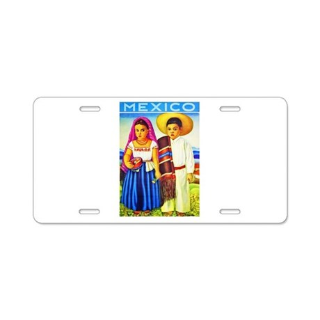 Mexico Travel Poster 12 Aluminum License Plate