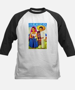 Mexico Travel Poster 12 Kids Baseball Jersey