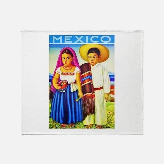 Mexico Travel Poster 12 Throw Blanket