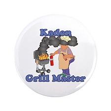 "Grill Master Kaden 3.5"" Button"