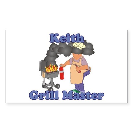 Grill Master Keith Sticker (Rectangle)