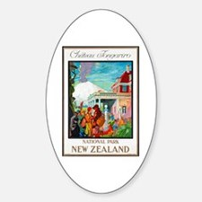 New Zealand Travel Poster 4 Decal