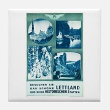 Lettland Travel Poster 1 Tile Coaster