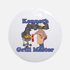Grill Master Kenneth Ornament (Round)